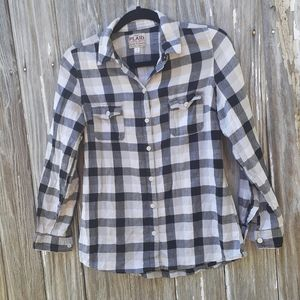 Old Navy, plaid,  lightweight, sz Sm, button front